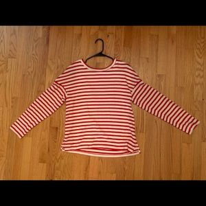 H&M red and white striped sweater